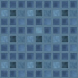 Textured geometrical squares pattern in blue navy colors Royalty Free Stock Photo
