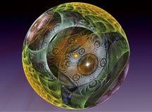 Textured glass chrystal ball Stock Photo