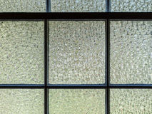 Textured-Glass Window Panes Stock Photo