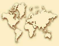 Textured global map Royalty Free Stock Image