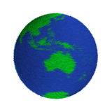 Textured green and blue globe Royalty Free Stock Image