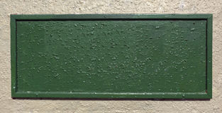 Textured Green Plaque Royalty Free Stock Photography