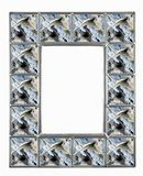 Textured Grey Picture Frame Stock Photography