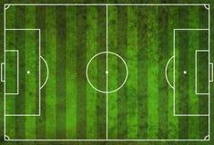 Textured Grunge Soccer Football Field. A textured grunge soccer football field royalty free stock images