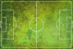 Textured Grunge Soccer Football Field Royalty Free Stock Photography
