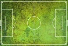 Textured Grunge Soccer Football Field. A textured grunge soccer football field royalty free stock photography