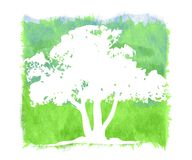 Textured Grunge Tree Background royalty free illustration