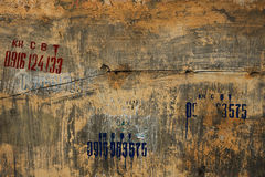 Textured Grunge Wall Background with Graffiti Stock Photography