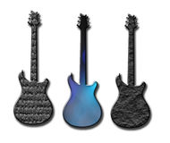 Textured guitar shapes Stock Images