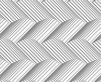 Textured with halftone squares horizontal chevron Stock Images