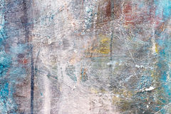 Textured hand painted canvas with brush strokes on grey backgrou Royalty Free Stock Image