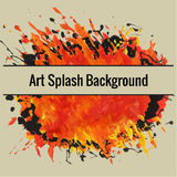 Textured handdrawn art background. With spot and splash of paint Royalty Free Stock Photos
