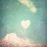 Textured Heart Balloon Stock Photography