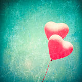 Textured Heart Balloons Royalty Free Stock Photography
