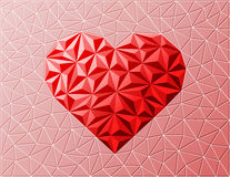 Textured heart sign on grid background. Royalty Free Stock Image