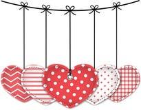 Textured hearts Royalty Free Stock Photos