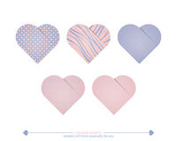 Textured hearts Stock Photography