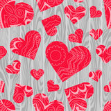 Textured hearts vector background Royalty Free Stock Photos