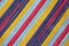 Textured hizo punto rayas diagonales coloridas como fondo Fotos de archivo