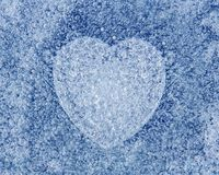 Ice blue background with heart Stock Photos