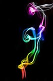 Textured of incense smoke Stock Photography
