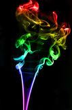 Textured of incense smoke Royalty Free Stock Photography