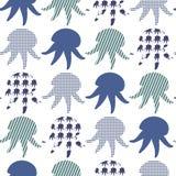 Textured jellyfish tło Zdjęcia Stock