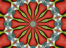 Textured Kaleidoscope Stock Image