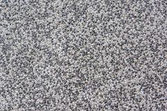 Textured Kamienna podłoga Robić Mali Gravels bielu i czerni kolory Starzejący się I Wietrzejący Obraz Royalty Free