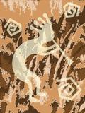 Textured Kokopelli. Jpeg illustration of kokopelli trickster with textured background Royalty Free Stock Photos