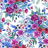 Textured kwiaty, wzór dla mody Zdjęcie Stock