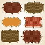 Textured labels and stickers set in retro style Royalty Free Stock Images