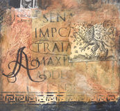 Textured layered mixed media collage royalty free stock photography