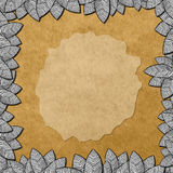 Textured Leaf Frame Royalty Free Stock Images