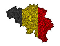 Textured map of Belgium in nice colors Royalty Free Stock Photography