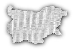 Textured map of Bulgaria  Royalty Free Stock Photography