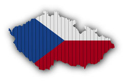 Textured map of Czech Republic in nice colors Royalty Free Stock Images