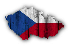 Textured map of Czech Republic in nice colors Royalty Free Stock Photo