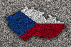 Textured map of Czech Republic in nice colors Stock Photos