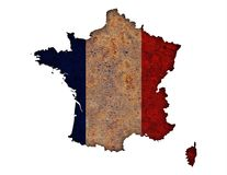 Textured map of France in nice colors. Textured map of France in colors Stock Photos