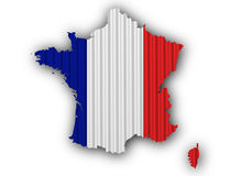Textured map of France in nice colors. Textured map of France in colors Royalty Free Stock Photo