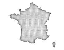Textured map of France in nice colors. Textured map of France in colors Royalty Free Stock Photos