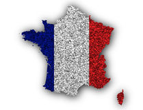 Textured map of France in nice colors. Textured map of France in colors Stock Photography