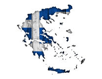 Textured map of Greece stock images