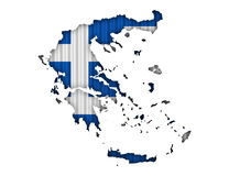 Textured map of Greece in nice colors. Textured map of Greece in colors royalty free stock photography
