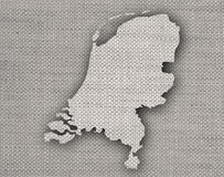 Textured map of the Netherlands in nice colors. Textured map of the Netherlands in colors Royalty Free Stock Images