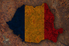 Textured map of Romania in nice colors Royalty Free Stock Image