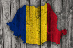 Textured map of Romania in nice colors Stock Photo