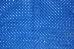 Textured metal background in blue. With criss cross pattern Royalty Free Stock Image