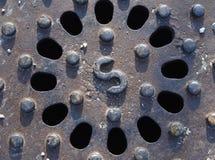 Textured metal kratownica fotografia stock
